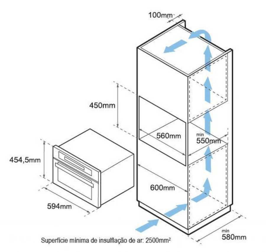 Forno combinado com micro-ondas Tecno 44L - TK44 -  - Nicho de instalação
