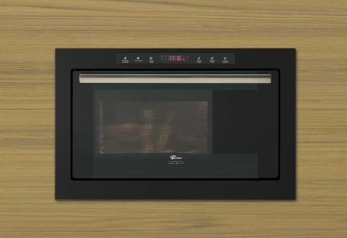 Medidas do microondas de embutir Fischer - 25378 preto