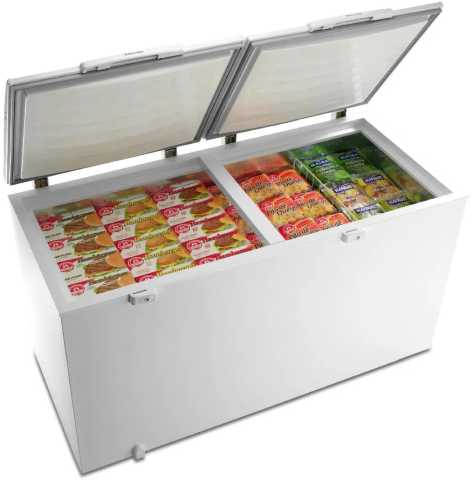 Medidas do freezer horizontal Electrolux H400
