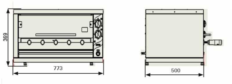Medidas da churrasqueira a gás de bancada Arke - ABH-05