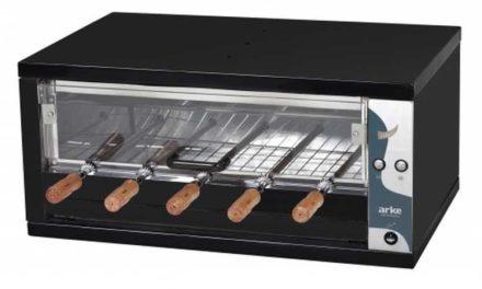Medidas da churrasqueira elétrica de bancada 5 espetos Arke – ABHE-05
