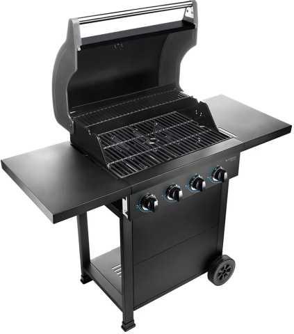 Medidas da churrasqueira a gás Cadence - Gourmet Barbecue 4 queimadores