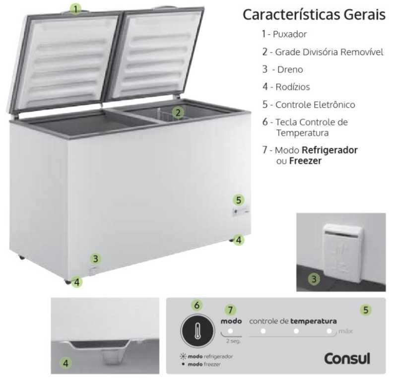 Freezer Consul CHB53EB - Conhecendo produto