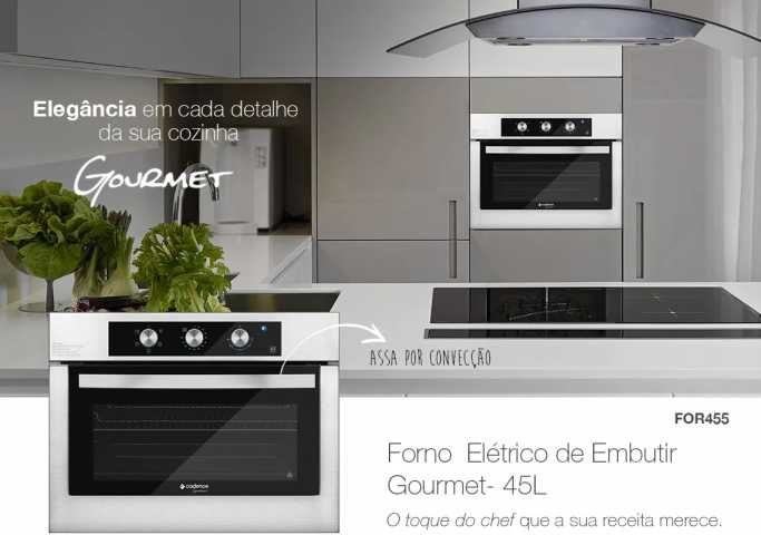 Medidas do forno elétrico de embutir Cadence - FOR455