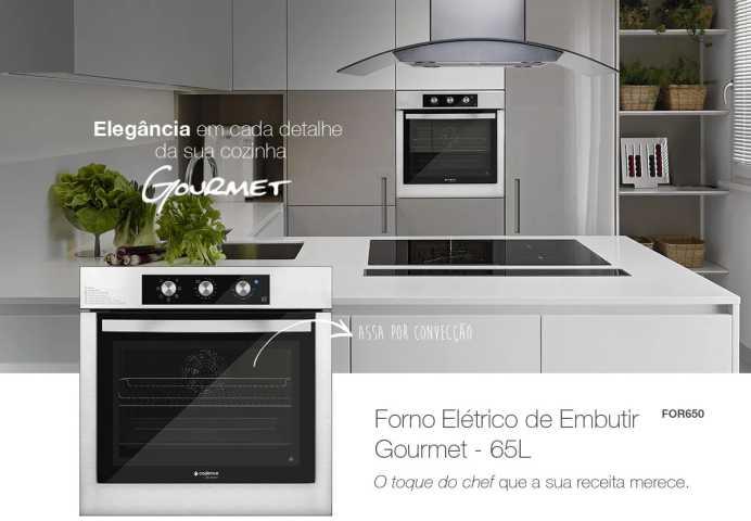 Medidas do forno elétrico de embutir Cadence - FOR650