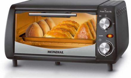 Medidas do Forno Elétrico Mondial 10 litros Pratic Cook – FR-08