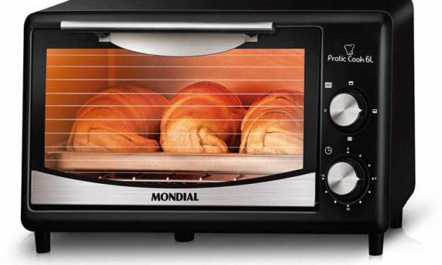 Medidas do Forno Elétrico Mondial 6 litros Pratic Cook – FR-09