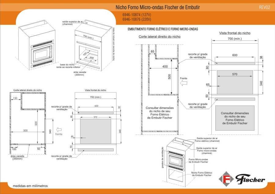 Instalação do micro-ondas de embutir Fischer - nicho para embutir