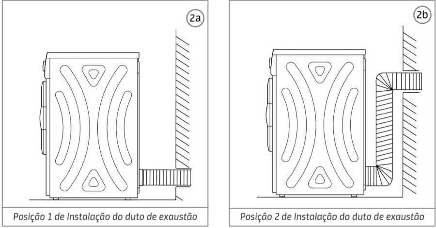 Secadora de roupas Midea  - instalação - duto de exaustão