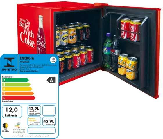 Medidas do frigobar Husky Coca Cola