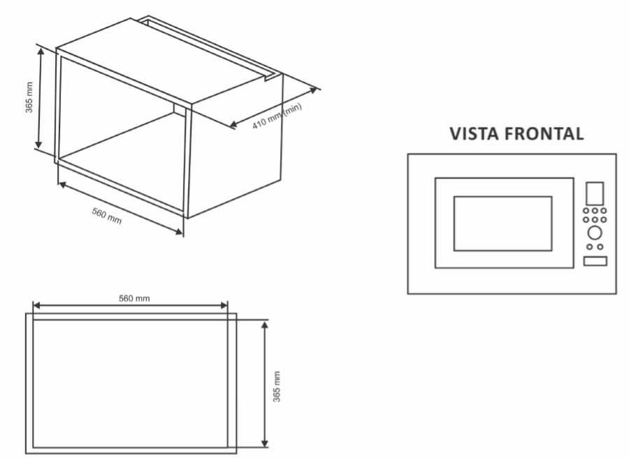Instalação do microondas de embutir Nardelli N230 - Nicho de instalação