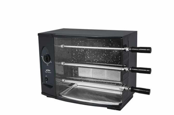 Medidas da churrasqueira Arke 3 espetos de bancada a gás Vitta Premium