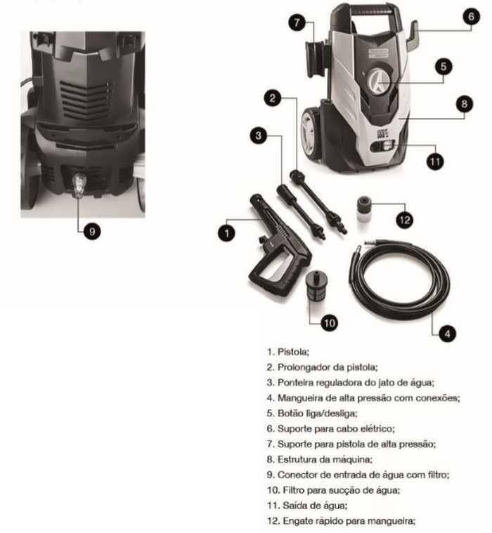 Lavadora de alta pressão Tramontina domestico 42546