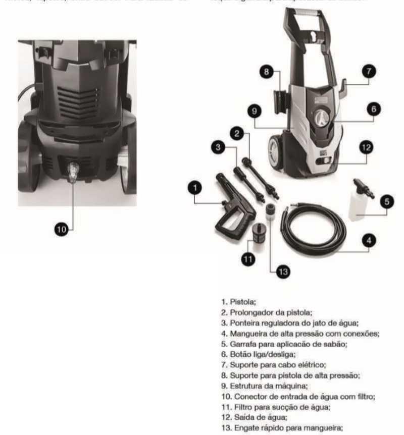 Lavadora de alta pressão Tramontina domestico 42550