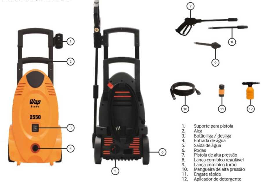Lavadora de Alta Pressão Wap Bravo 2550 - conhecendo produto