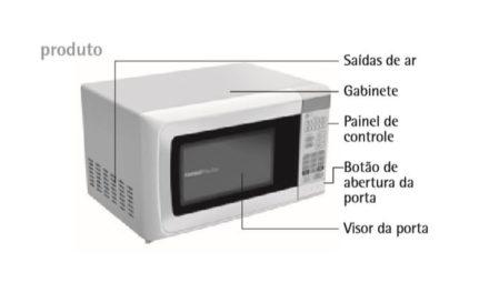 Medidas do Microondas Consul 20 litros Branco – CMS26