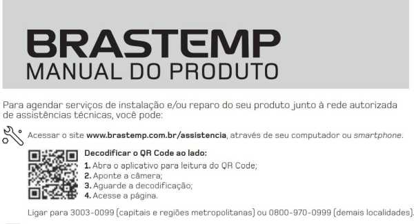 Manual de operação da geladeira Brastemp bre80