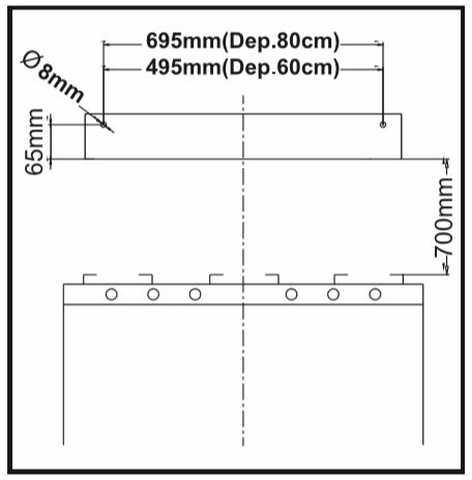 Depurador de ar Suggar 60 cm - DI60BIBR