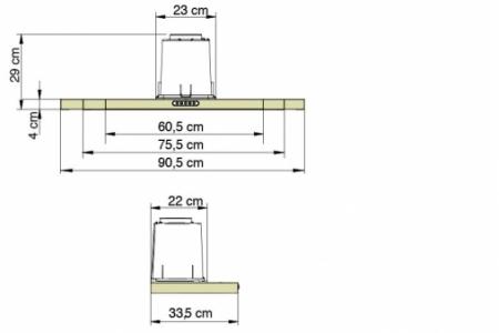 Depurador Compact Fogatti - dimensões