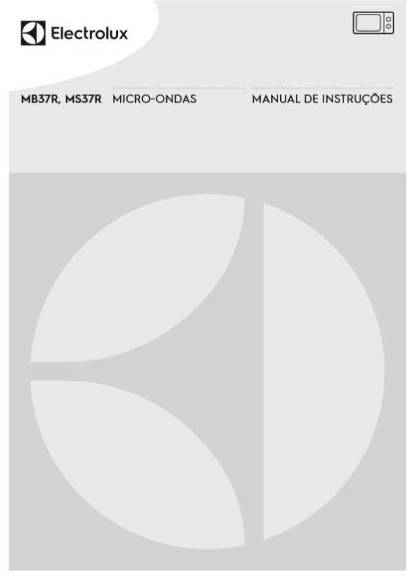 Manual de instruções do micro-ondas Electrolux 31 litros MEC41
