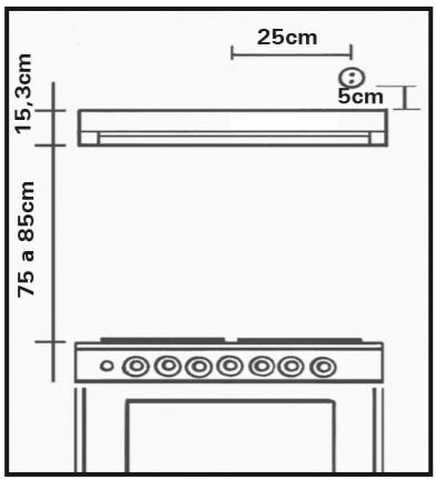 Depurador de ar Suggar 60 cm - PL61BR