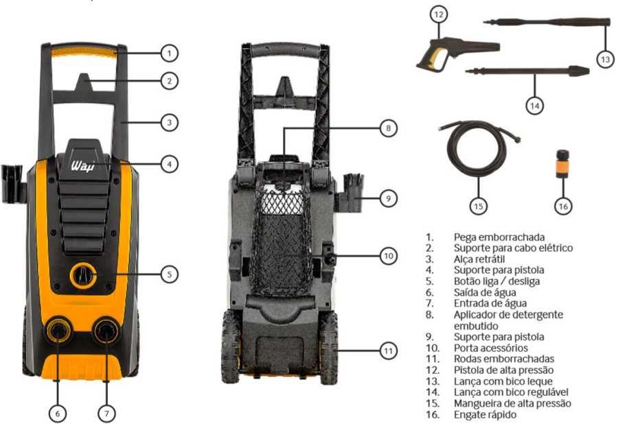 Lavadora de Alta Pressão Wap Silent Power 2800 - conhecendo produto