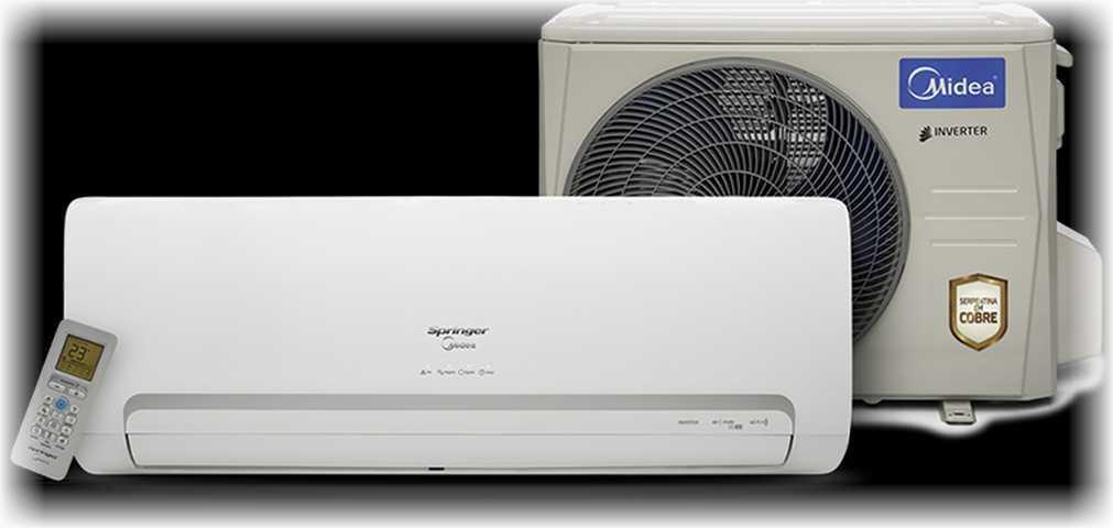 Medidas do ar condicionado split Springer Midea Inverter 9000 btu