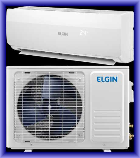 Medidas do ar condicionado split Elgin top inverter 24000 btu - quente e frio