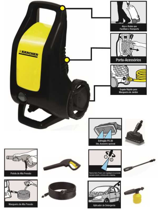 Lavadora de Alta Pressão Karcher K 2.500 black - conhecendo produto