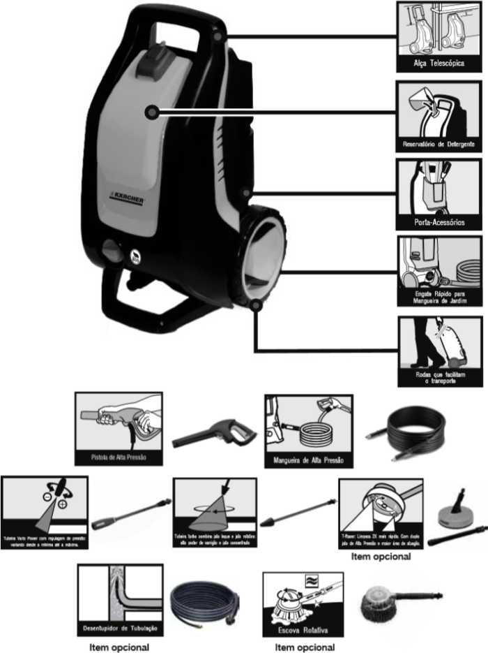 Lavadora de Alta Pressão Karcher K 3 premium kit casa - conhecendo produto