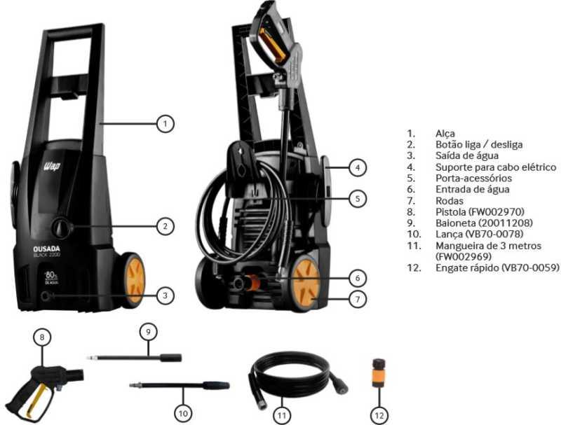 Lavadora de Alta Pressão Wap Ousada Black 2200 - conhecendo produto