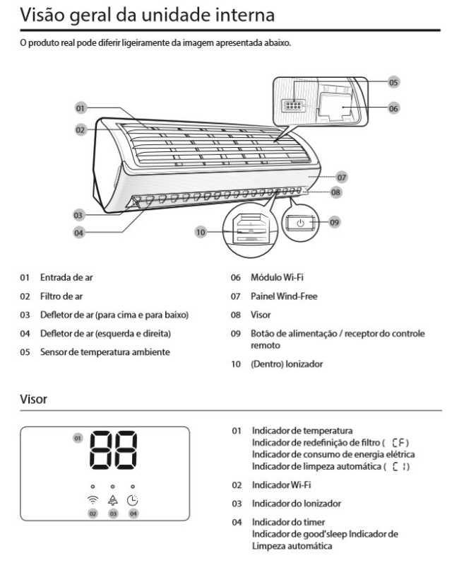Ar condicionado split Samsung Wind Free quente e frio 9000 btu/h - conhecendo produto - unidade interna