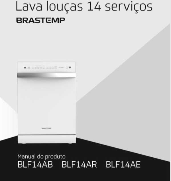 Manual de Instruções da Lava Louças Brastemp 14 serviços BLF14