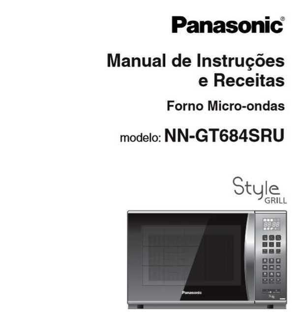 Manual de Instruções do micro-ondas Panasonic 30 litros GT684