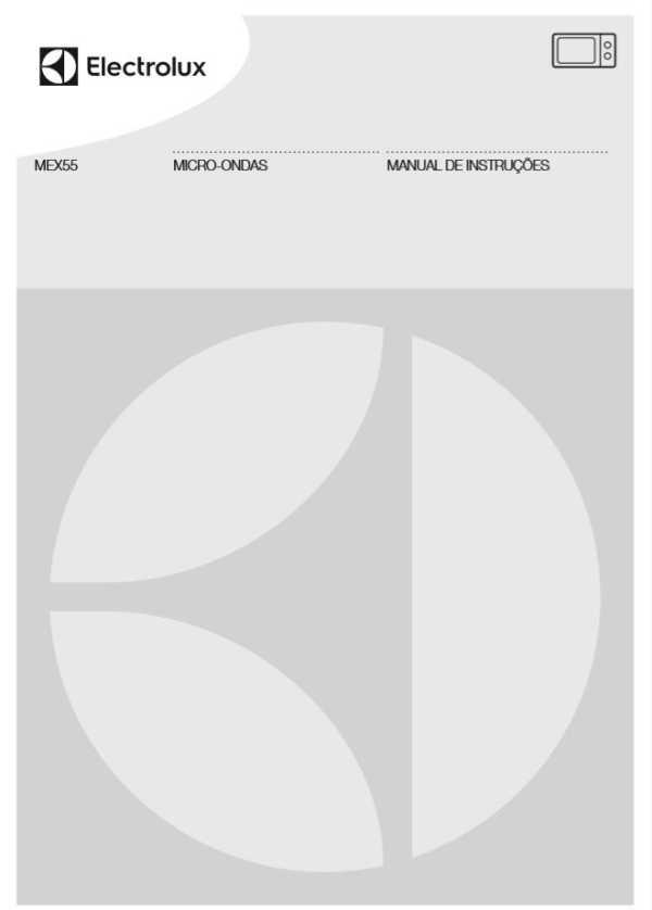 Manual de instruções do micro-ondas Electrolux 45 litros MEX55