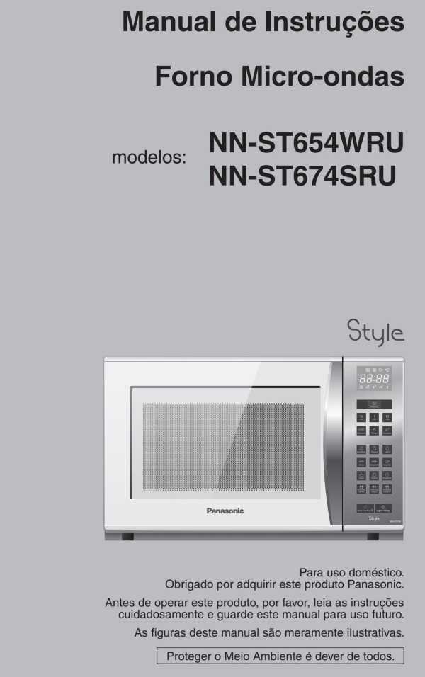 Manual de Instruções do micro-ondas Panasonic 32 litros - ST654