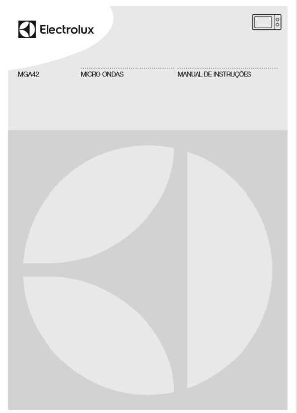 Manual de instruções do micro-ondas Electrolux 32 litros MGA42
