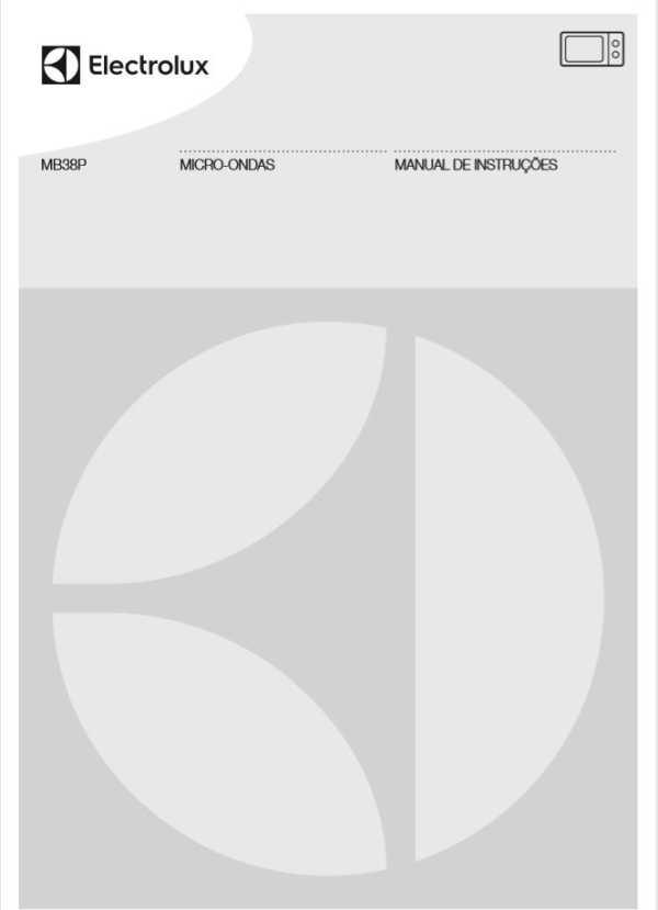 Manual de instruções do micro-ondas Electrolux 28 litros de embutir MB38P