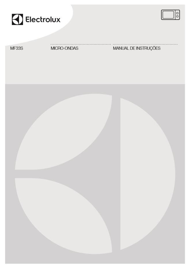 Manual de instruções do micro-ondas Electrolux 23 litros - MF33S