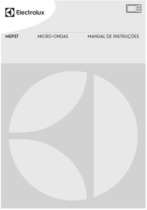 Manual de instruções do micro-ondas Electrolux 27 litros - MEP37