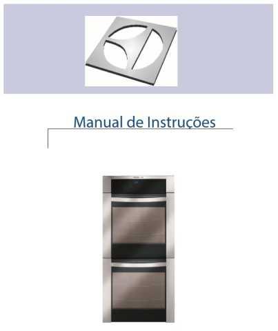 Manual de Instruções do forno Electrolux
