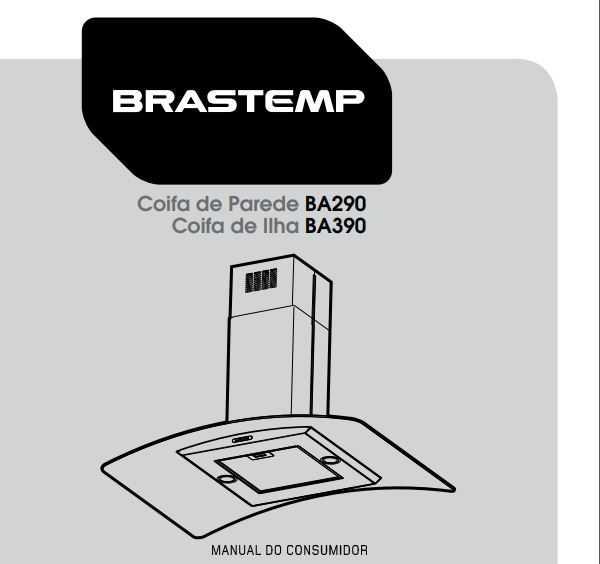 Manual de Operações da Coifa Brastemp 90 cm BA290