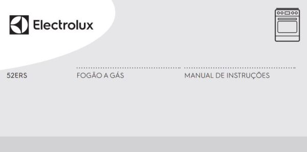 Fogão a gás Electrolux - capa manual