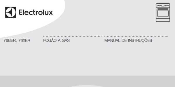 Manual de instruções do fogão a gás Electrolux 5 bocas de embutir 76BER