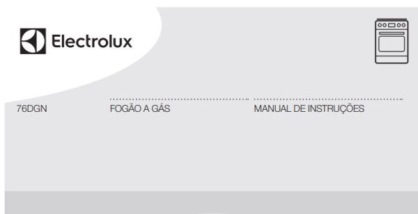 Manual de Instruções do fogão Electrolux 5 bocas de piso 76DGN