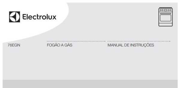 Manual de instruções do fogão a gás Electrolux 5 bocas de embutir 76EGN