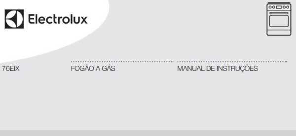 Manual de instruções do fogão a gás Electrolux 5 bocas de embutir 76EIX