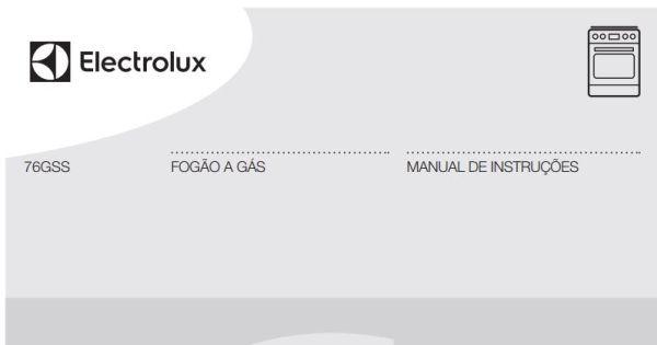 Manual de Instruções do fogão Electrolux 5 bocas de piso 76GSS