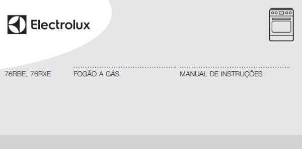 Manual de instruções do fogão a gás Electrolux 5 bocas de embutir 76RBE