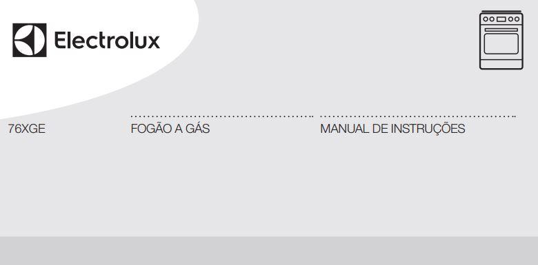 Manual de instruções do fogão a gás Electrolux 5 bocas de embutir 76SGE